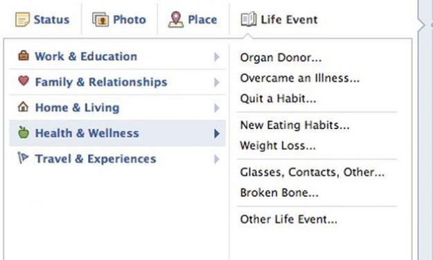 Sulla timeline di Facebook si può indicare anche l'intenzione di donare gli organi