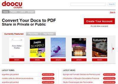 Convertire documenti in PDF e condividerli con Doocu