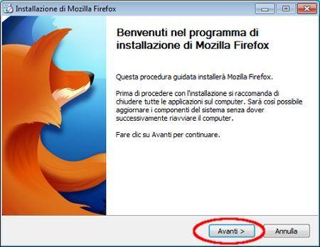 download firefox installazione