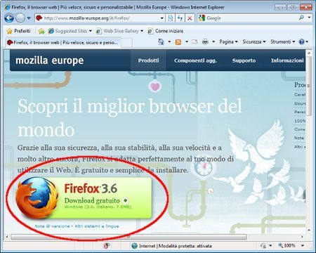 download firefox sito