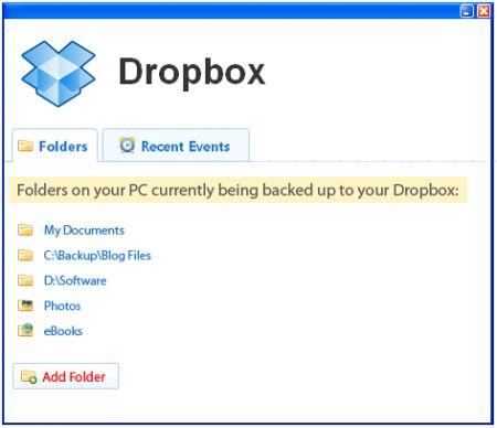 dropbox spazio xp