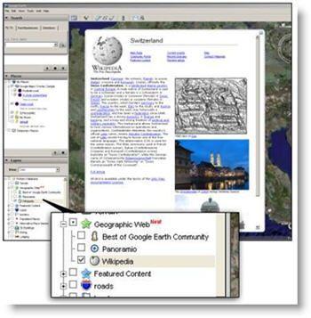 wikipedia su google earth
