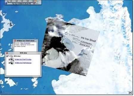 earthbrowser screenshot antartide