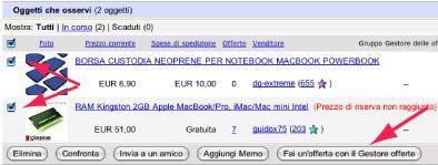 Screenshot Gestore Offerte