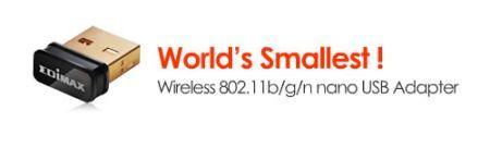 Edimax presenta l'adattatore Wireless USB più piccolo al mondo