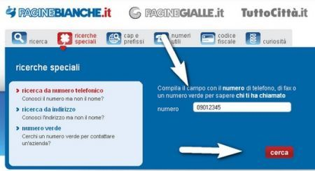 Elenchi telefonici online: consentita la ricerca inversa