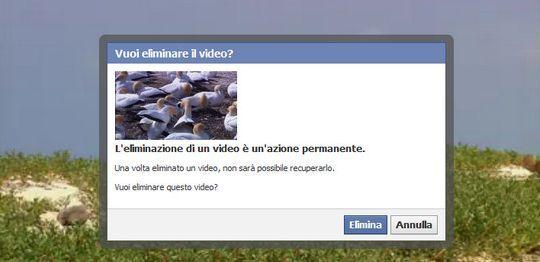 eliminare video facebook nuovo profilo