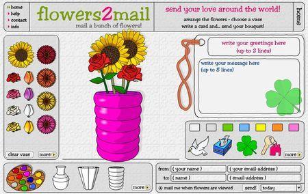 Email gratis: romantici messaggi con fiori virtuali con Flowers2mail