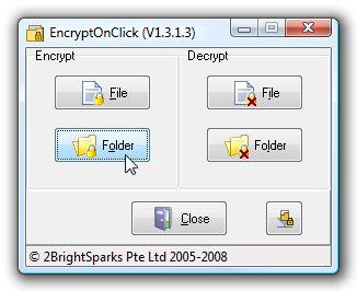 EncryptOnClick cripta file e cartelle in pochi click