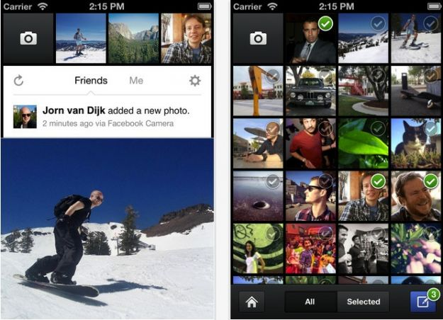 Facebook Camera: l'app per iPhone che minaccia Instagram [VIDEO]