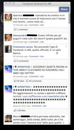 Facebook for air