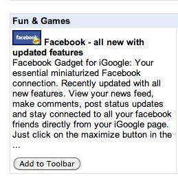 facebook google toolbar