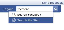 live search su facebook