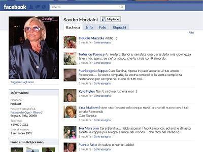 Sandra Mondaini: Facebook ricorda la presentatrice
