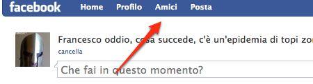 facebook: cliccate su Amici