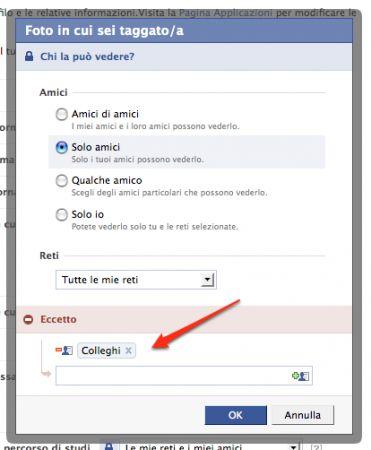 Facebook, inserite le liste amici che volete escludere dai vostri contenuti