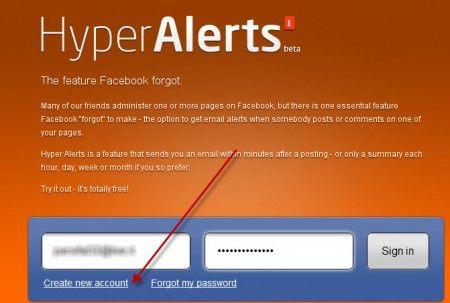 Facebook social network: Hyper Alert invia notifiche per le pagine