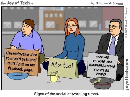 Messaggio Facebook per licenziare