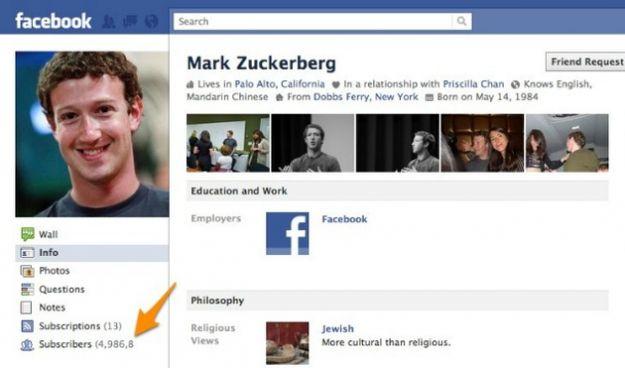 I fans su Facebook di Mark Zuckerberg adesso sono subscribers