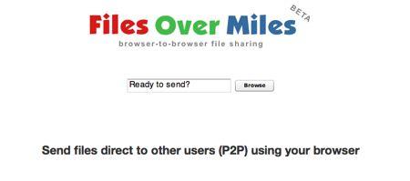 Files Over Miles: trasferire i file via browser