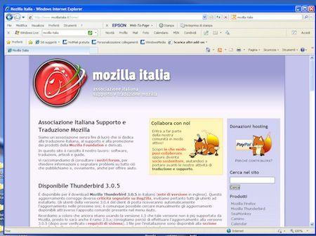 Il sito italiano da cui scaricare Mozilla Firefox