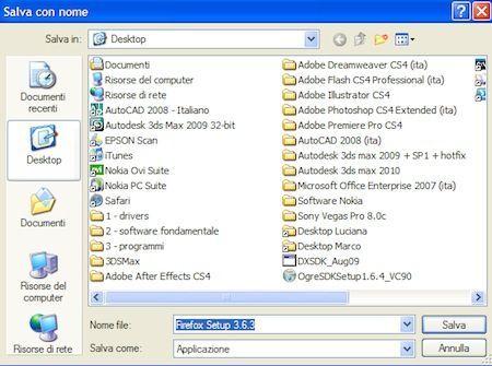 Salviamo il file sul Desktop