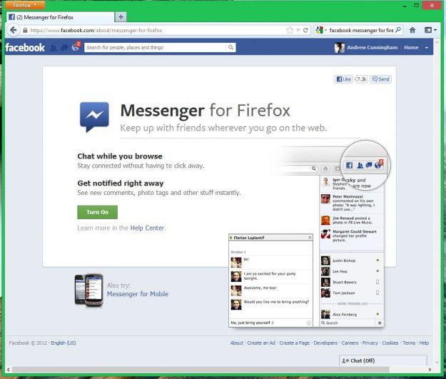 Firefox 17 disponibile al download, meno add-ons e più Facebook