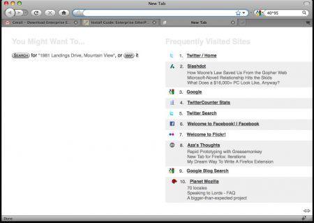 Firefox 3.1 nuovo tab