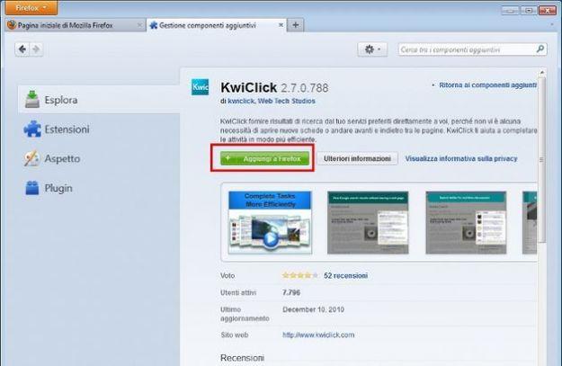 Firefox addons: come installare e gestire i componenti aggiuntivi
