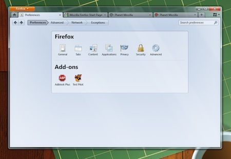 Firefox 4 userà una finestra online per le preferenze, al posto delle finestre di dialogo
