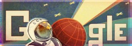 Google Doodle per celebrare il 50° anniversario del primo viaggio nello spazio