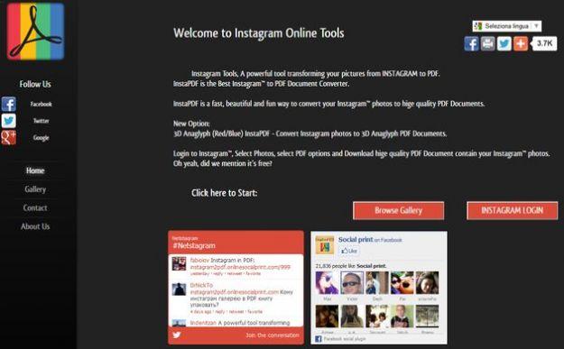 App Instagram: creare un PDF con le foto con InstaPDF