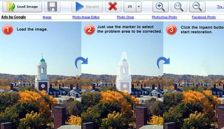 fotoritocco gratis eliminare loghi testi web inpaint