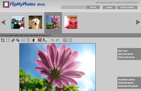 Fotoritocco gratis: modificare immagini online con il funzionale FlipMyPhotos