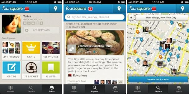 foursquare app