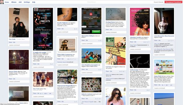 Facebook come Pinterest con Friendsheet