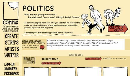 Realizzare fumetti su internet con Commix