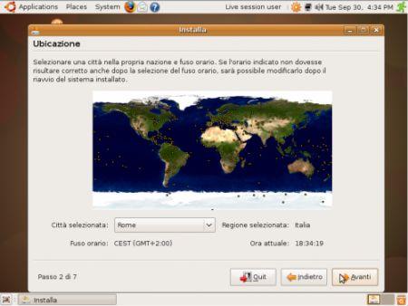 fuso orario ubuntu