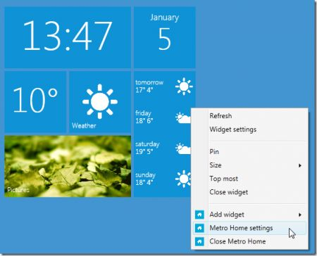 Gadget Windows 7: Metro Home in stile Windows Phone