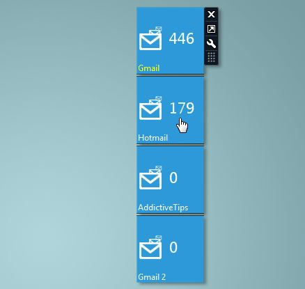 gagdet Windows mail