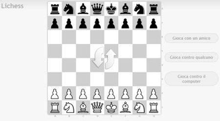 Giocare a scacchi su internet con Lichess