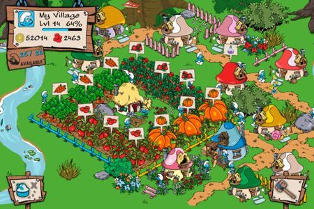 giochi iphone smurfs village