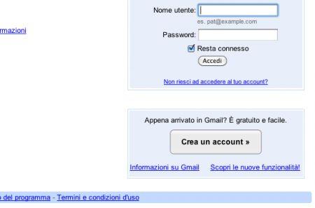 Creazione di un account Gmail