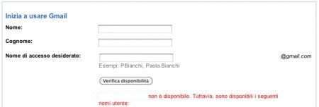 gmail cambio indirizzo