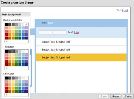 Gmail colori personalizzati