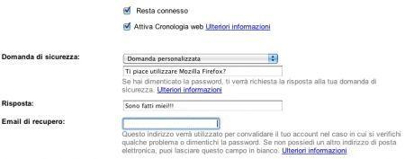 gmail domanda
