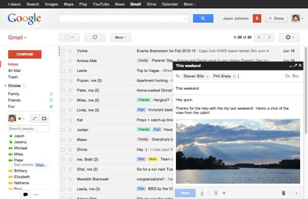 gmail modulo composizione messaggi