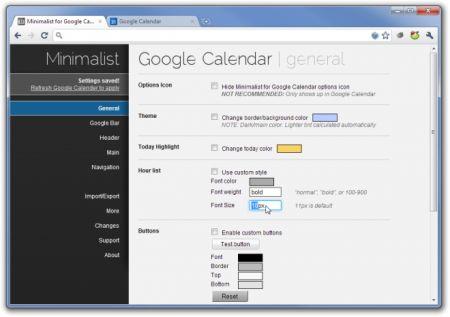 Google Calendar: modificarlo e personalizzarlo con l'estensione Minimalist