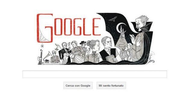 Google Doodle per Bram Stoker, autore di Dracula
