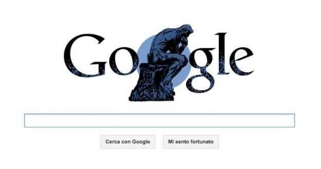 google doodle auguste rodin